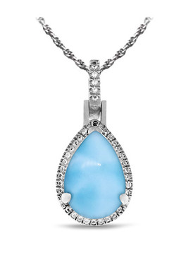 MarahLago Radiance Pear Larimar Necklace - 3x4