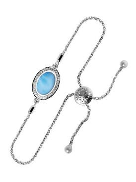 MarahLago Radiance Round Larimar Bracelet - 3x4