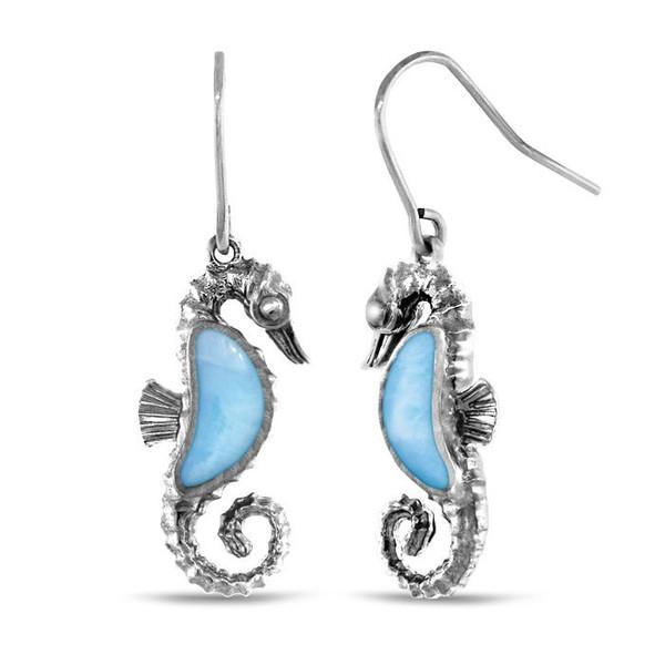 MarahLago Seahorse Larimar Earrings