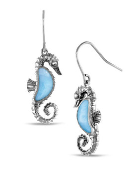 MarahLago Seahorse Larimar Earrings - 3x4
