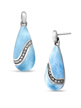 MarahLago Brook Larimar Earrings - 3x4