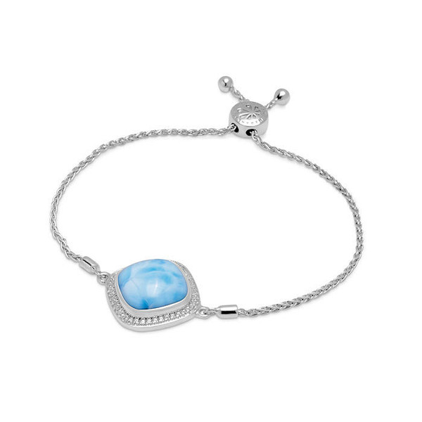 MarahLago Clarity Cushion Larimar Bracelet with White Sapphire