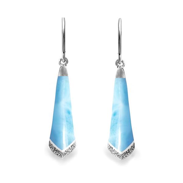 MarahLago Drift Larimar Earrings with White Sapphire