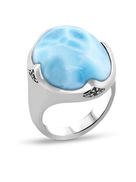 MarahLago Cocktail Larimar Ring  - 3x4