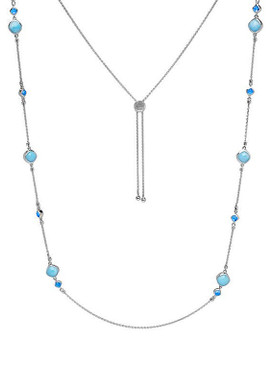 MarahLago Hideaway Larimar Necklace with Blue Spinel - 3x4