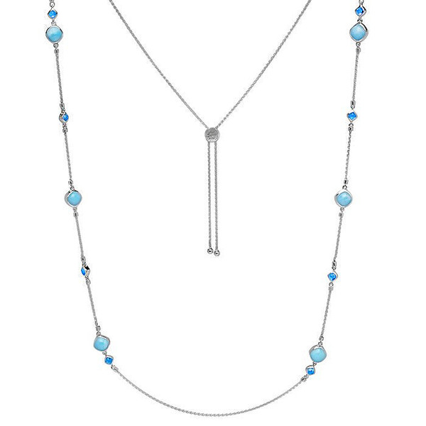 MarahLago Hideaway Larimar Necklace with Blue Spinel