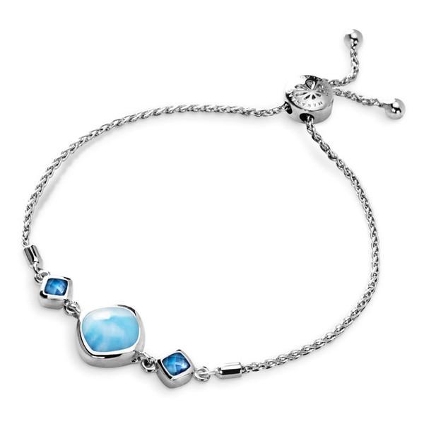 MarahLago Hideaway Larimar Bracelet with Blue Spinel