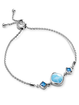 MarahLago Hideaway Larimar Bracelet with Blue Spinel - 3x4