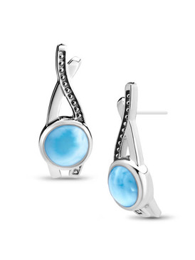 MarahLago Indigo Larimar Earrings - Restyled 2020 - 3x4