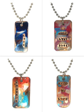Kate Mesta Dog Tag Necklaces - Free Gift With Purchase