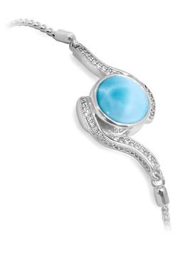 MarahLago Adella Bolo Bracelet with White Sapphire