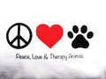 Peace, Love & Therapy Animals™ T-Shirt
