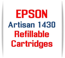 EPSON Artisan 1430 Refillable Ink Cartridges