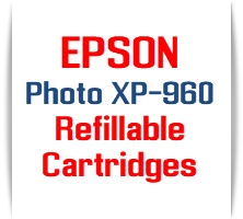 EPSON Epression Photo XP-960 Refillable Ink Cartridges