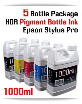 5 Color 1000ml bottles HDR compatible Pigment ink