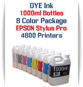 1000ml DYE Ink Epson Stylus Pro 4800 Printers