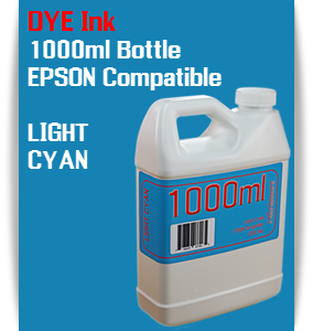 Light Cyan 1000ml DYE Bottle Ink Epson Stylus Pro Printers
