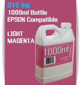 Light Magenta 1000ml DYE Bottle Ink Epson Stylus Pro Printers