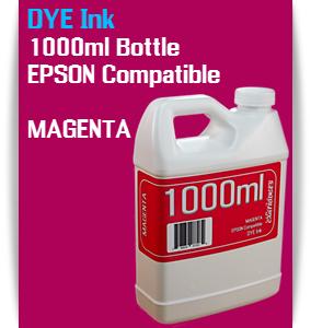 Magenta 1000ml DYE Bottle Ink Epson Stylus Pro Printers