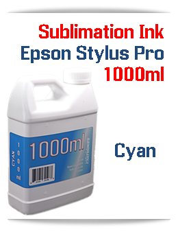 Cyan 1000ml Sublimation Ink Epson Stylus Pro Printers
