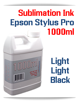 Light Light Black 1000ml Sublimation Ink Epson Stylus Pro Printers