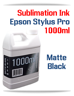 Matte Black 1000ml Sublimation Ink Epson Stylus Pro Printers