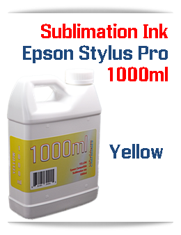 Yellow 1000ml Sublimation Ink Epson Stylus Pro Printers