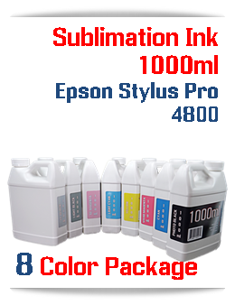 8 color package Sublimation 1000ml Bottle Ink Epson Stylus Pro 4800 printers