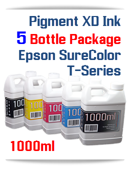 5 Pigment XD Bottle Ink Package Epson SureColor T-Series Printer