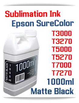 Matte Black Sublimation Ink 1000ml Epson SureColor T-Series Printers
