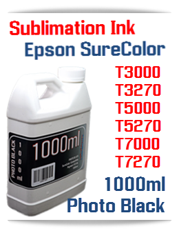 Photo Black Sublimation Ink 1000ml Epson SureColor T-Series Printers