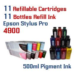 Refillable Cartridge Package Epson Stylus Pro 4900 Printer