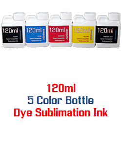 5 bottles 120ml Dye Sublimation Ink