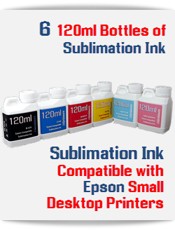 6 120ml Sublimation Ink Bottles Package