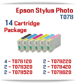 14 Cartridge Package T078 Epson Stylus Photo