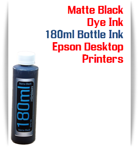 Matte Black 180ml Bottle Dye Ink