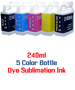 5 bottles 240ml Dye Sublimation Ink