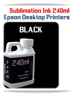 Black Sublimation Ink Epson Desktop Printers 240ml
