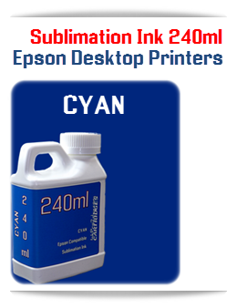 CYAN Epson Small Desktop Sublimation Ink 240ml