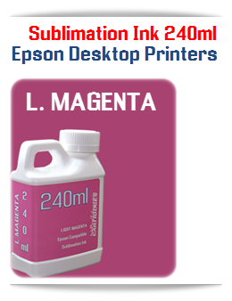 LIGHT MAGENTA Epson Small Desktop Sublimation Ink 240ml
