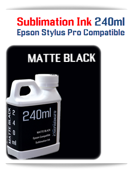 240ML Bottle Matte Black Sublimation Ink