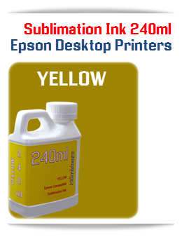 Yellow Epson Small Desktop Sublimation Ink 240ml
