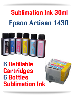 Sublimation Ink Refillable Cartridges, Epson Artisan 1430