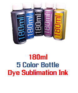 5 bottles 180ml Dye Sublimation Ink
