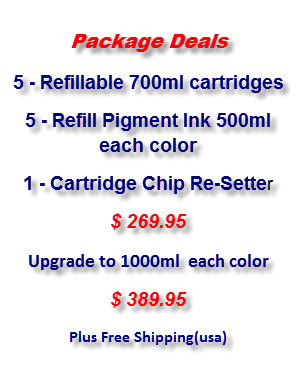 Refillable Epson Stylus Pro 7700/9700 Compatible Ink Cartridges