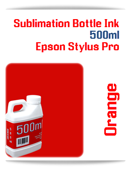 500ML Bottle Orange Sublimation Ink