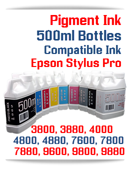Pigment Ink for Epson Stylus Pro Printers 500ml bottles