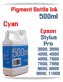 Cyan 500ml Bottle Pigment Ink Epson Stylus Pro