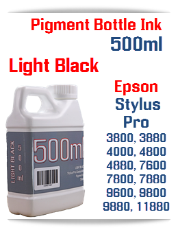 Light Black 500ml Bottle Pigment Ink Epson Stylus Pro