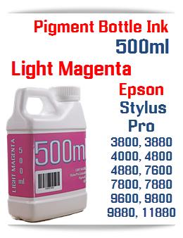 Light Magenta 500ml Bottle Pigment Ink Epson Stylus Pro